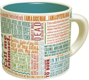 Literary coffee mugs for the booklover on your list