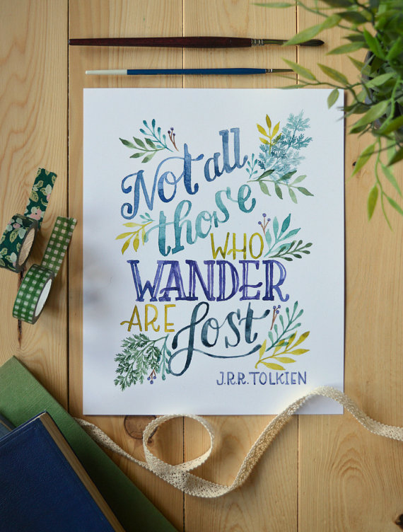 Literary inspired prints make wonderful gifts for the book lover on your list!