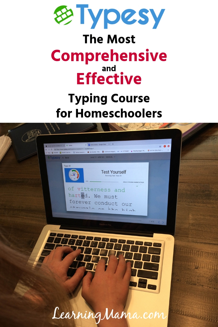 Typesy is the most comprehensive & effective typing course for homeschool
