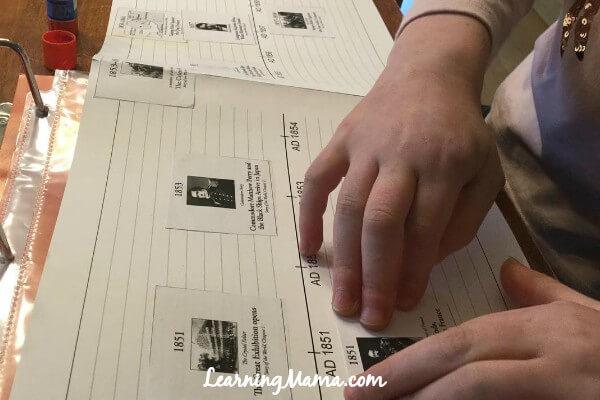 Making a timeline - using Story of the World with older children