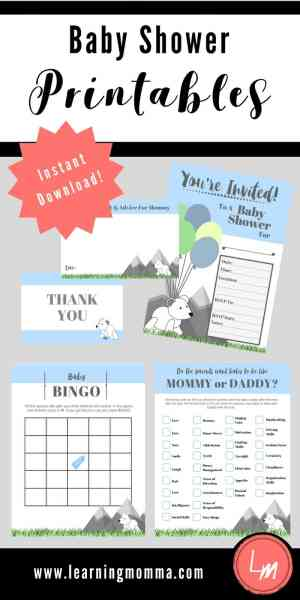 Baby Shower Printables, Baby Shower Downloads, Baby Shower Printable, Baby Shower Download, Baby Boy Baby Shower