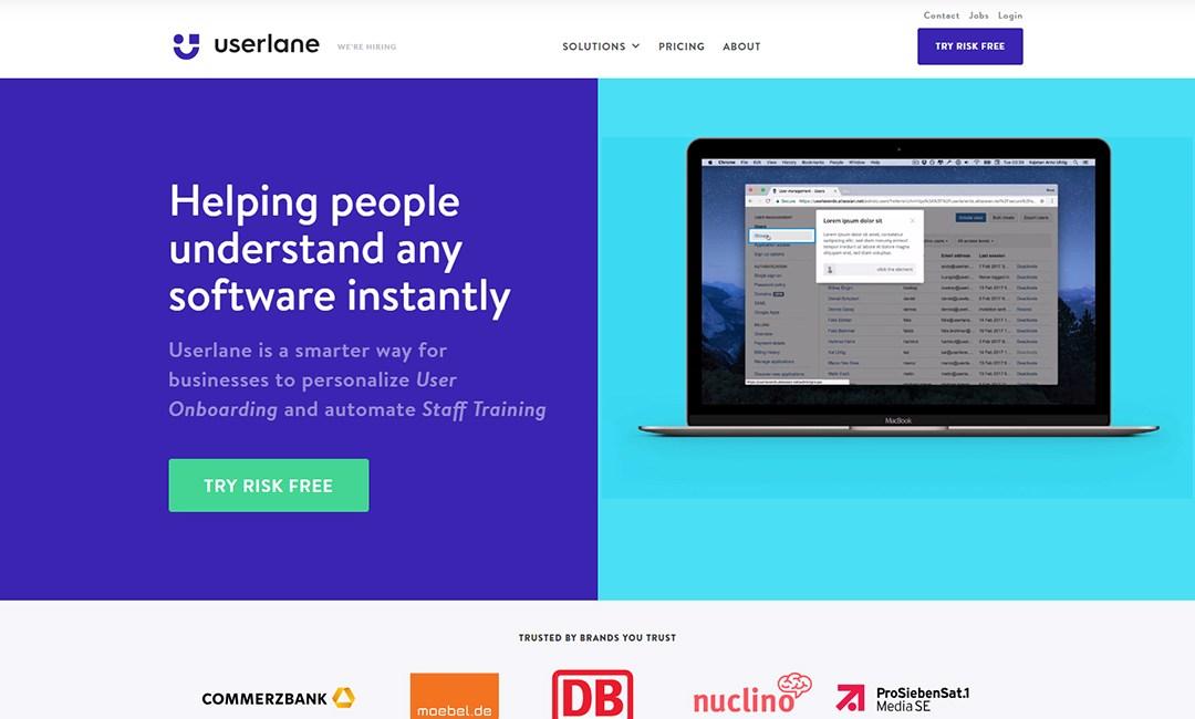 Userlane Software Training Platform