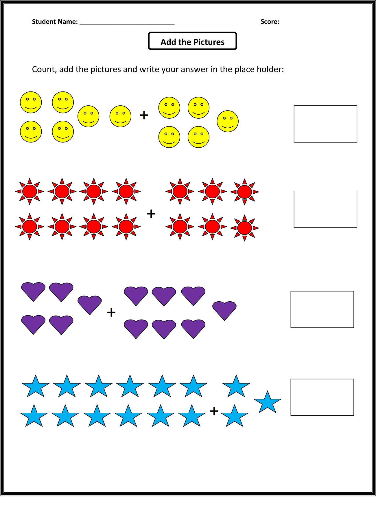 1 Grade Work Sheet Printables