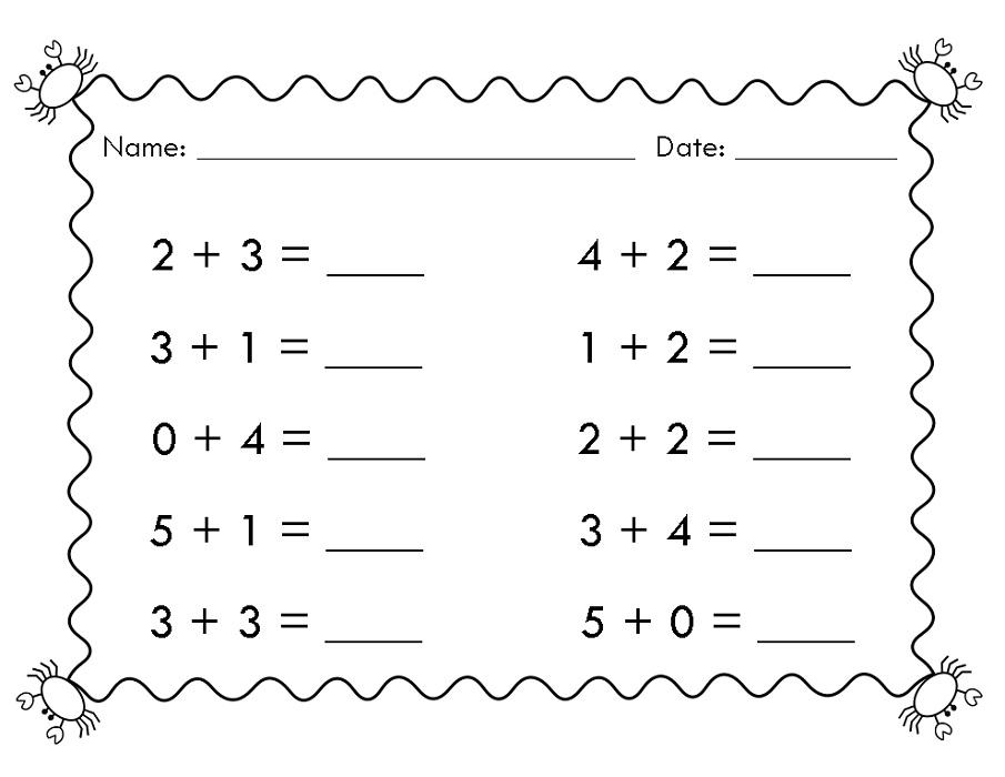 Easy 1st Grade Math Worksheets