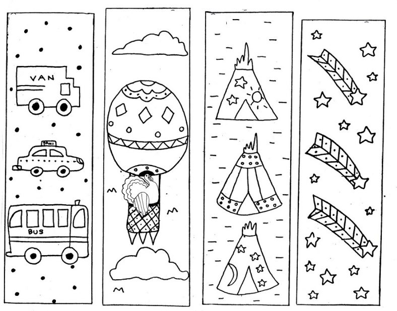 cute bookmarks to color activity