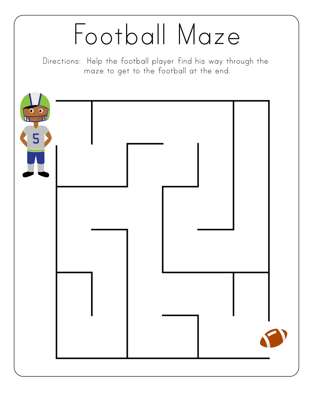 Kid Maze Worksheets to Print