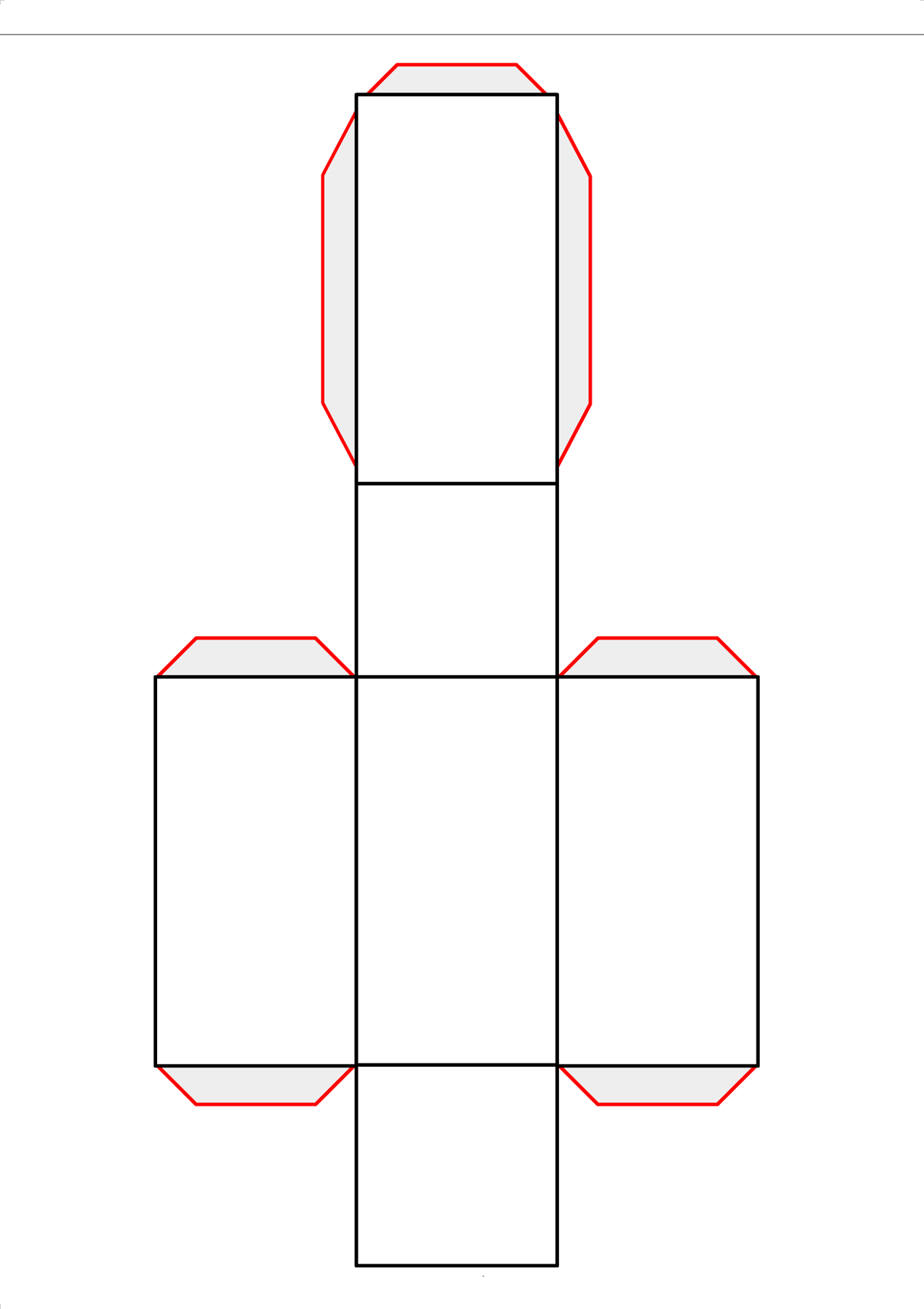 Rectangular Prism Net Image Learning Printable