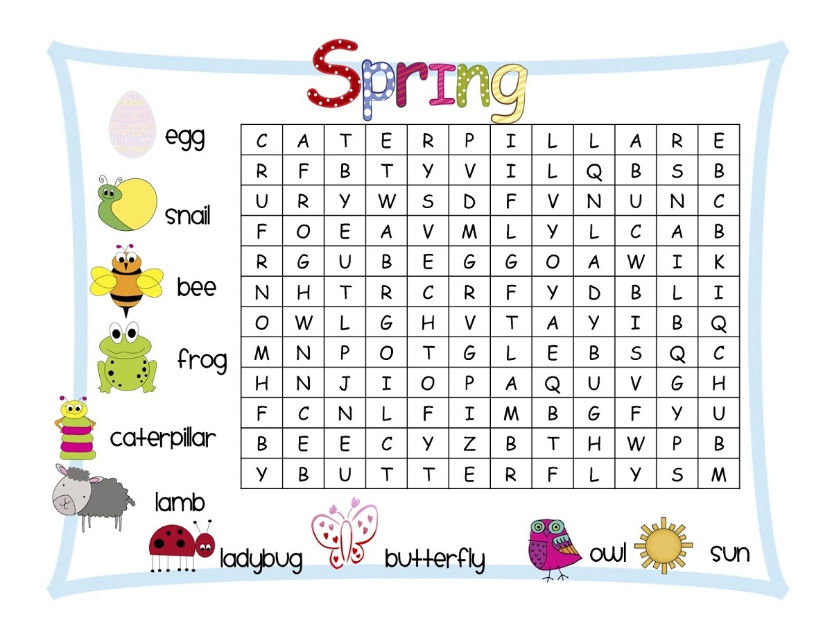 Free Elementary Word Search Printables