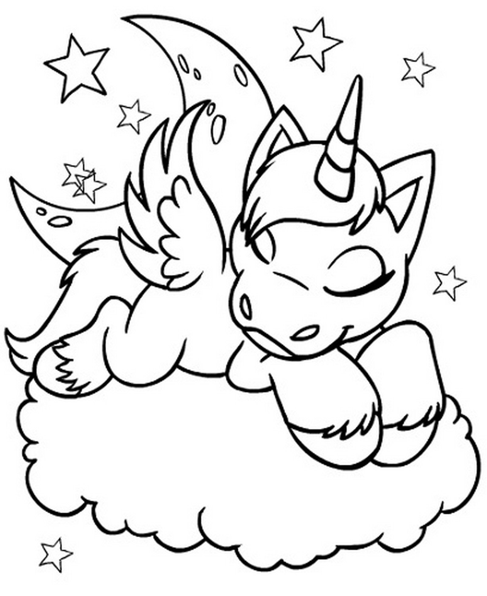 Unicorn Coloring Pages Free Learning Printable