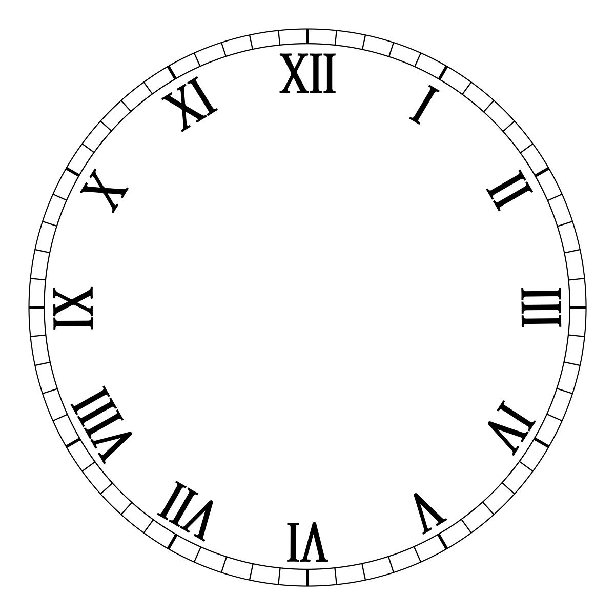 1 12 Roman Numerals Clock Face