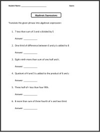 English and Math 6th Grade Worksheets | Learning Printable