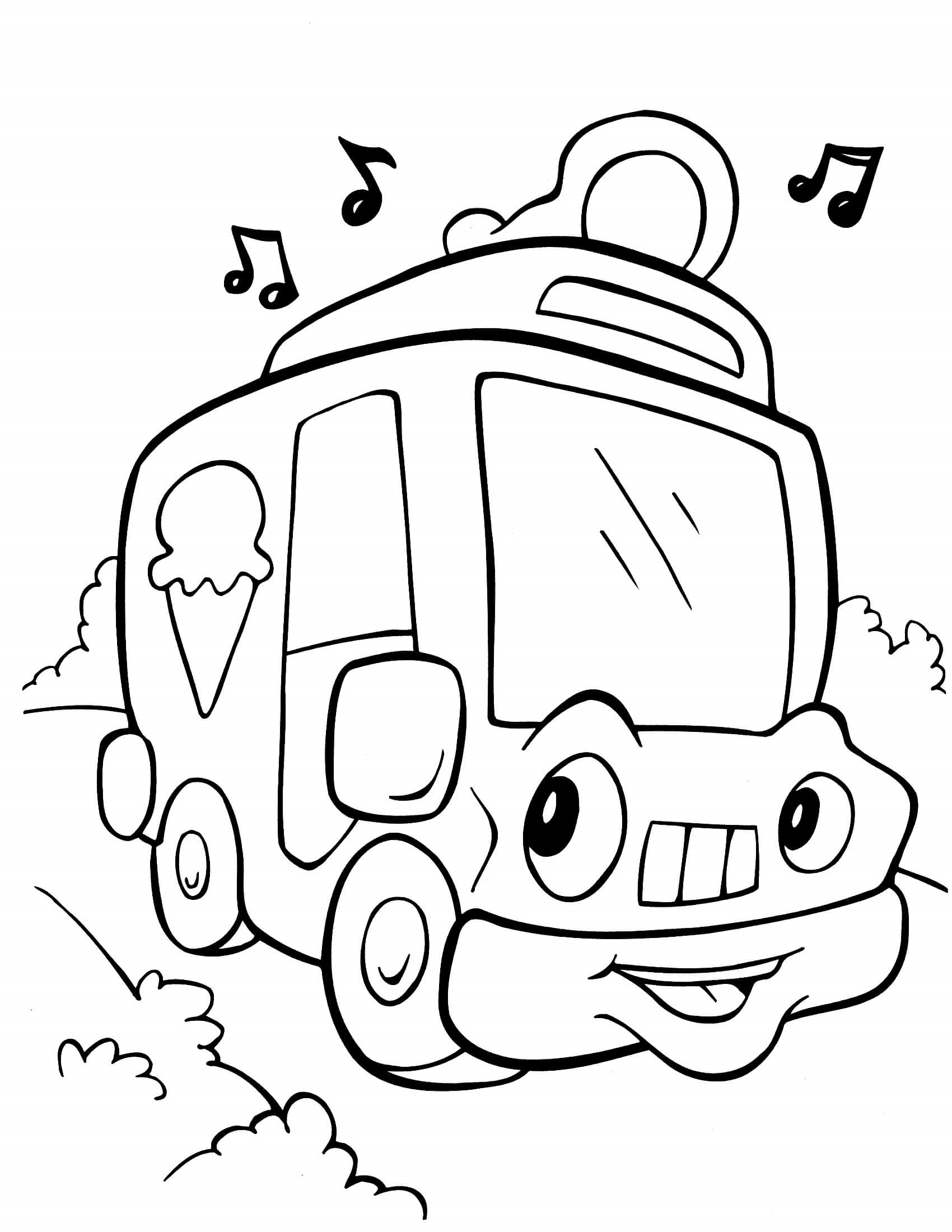 Crayola Coloring Pages Vehicle Learning Printable