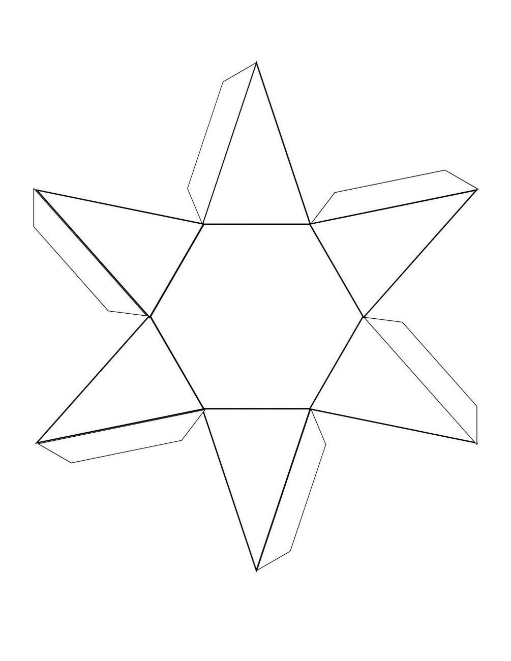 free printable 3d shape nets page