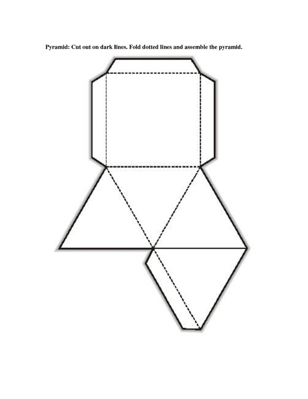 free printable 3d shape nets template