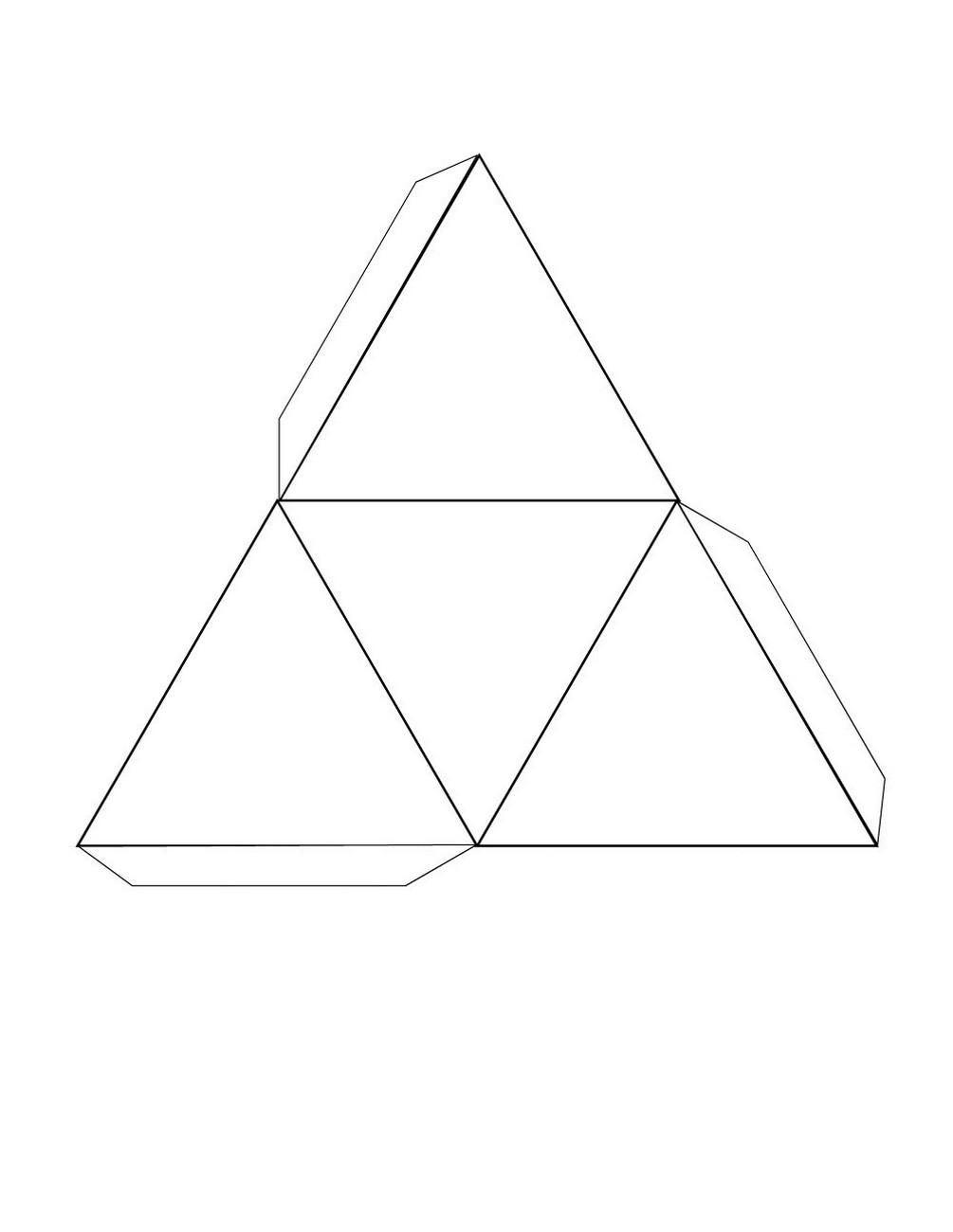 free printable 3d shape nets triangular