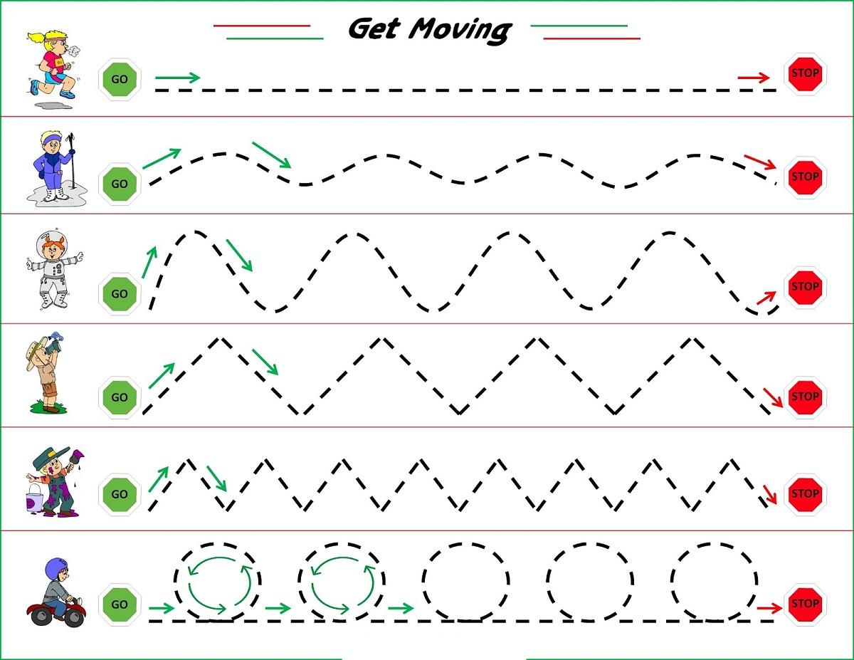 Line Worksheet For Kindergarten Practice Learning Printable