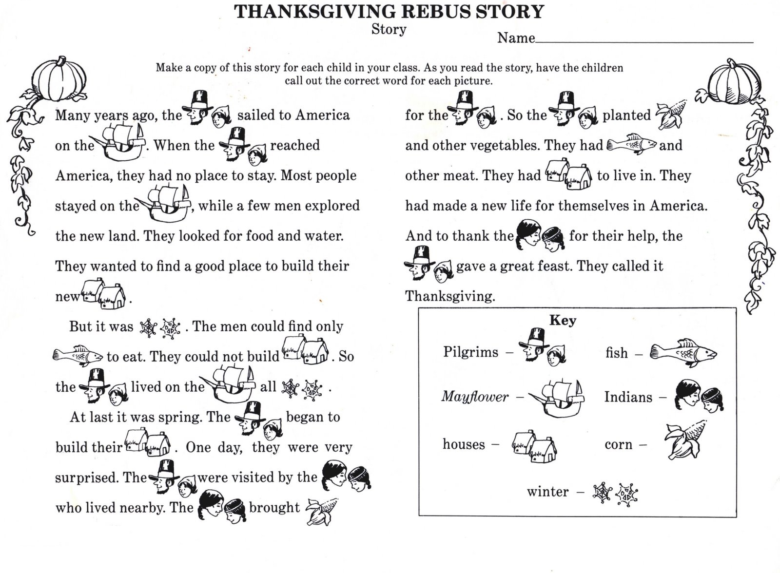 Story Worksheets For Kindergarten