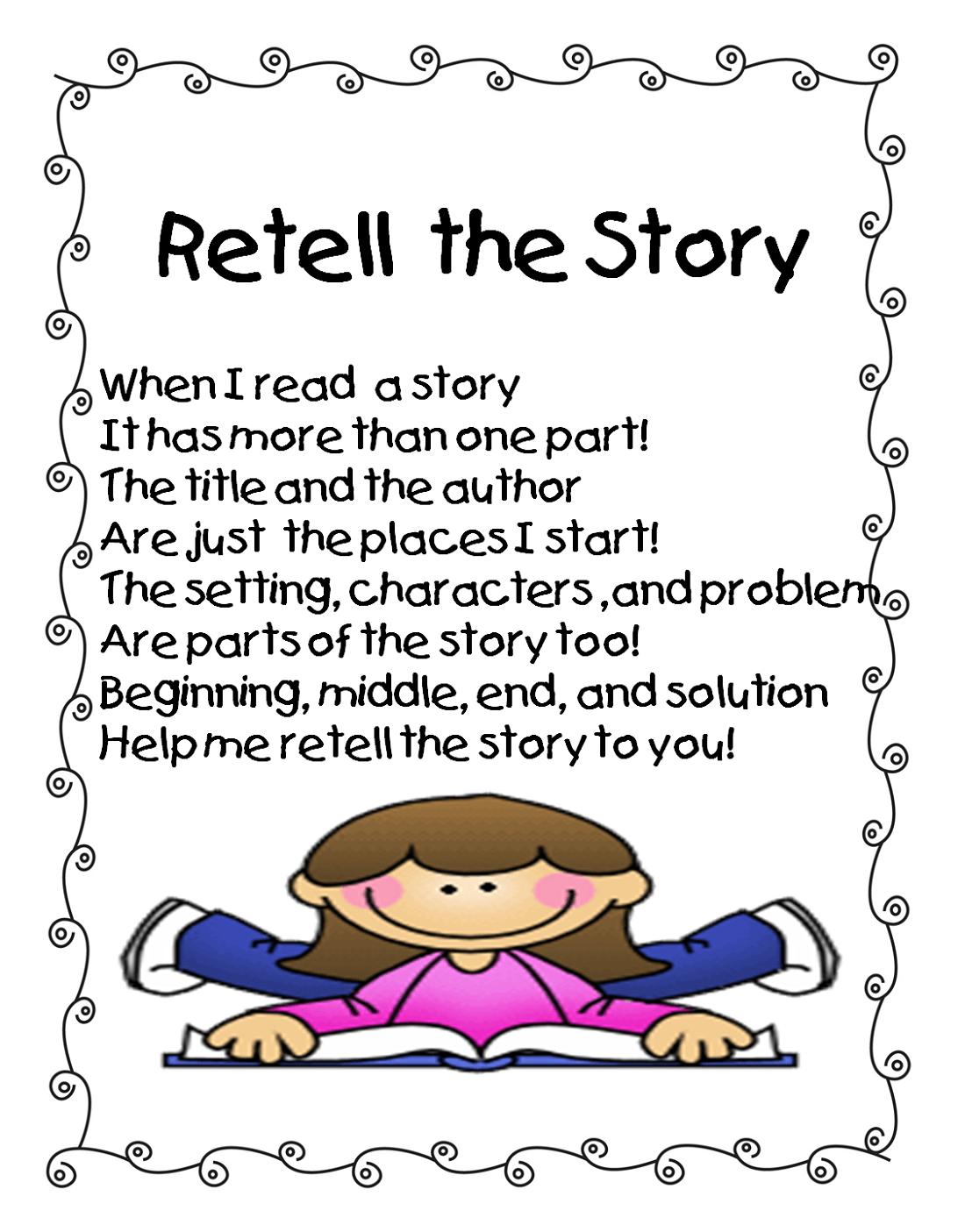 Story Worksheets For Kindergarten Retell Learning Printable