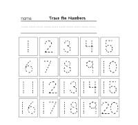 Workbooks  Tracing Numbers 1 50 Worksheets - Free ...