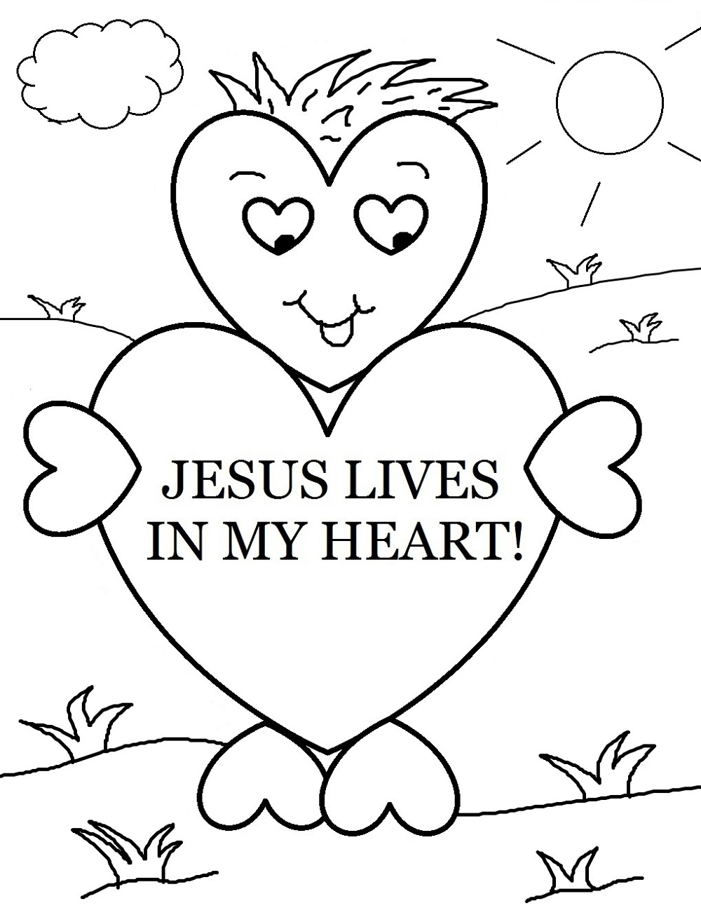 Christian Coloring Pages For Kids And Adults Learning Printable