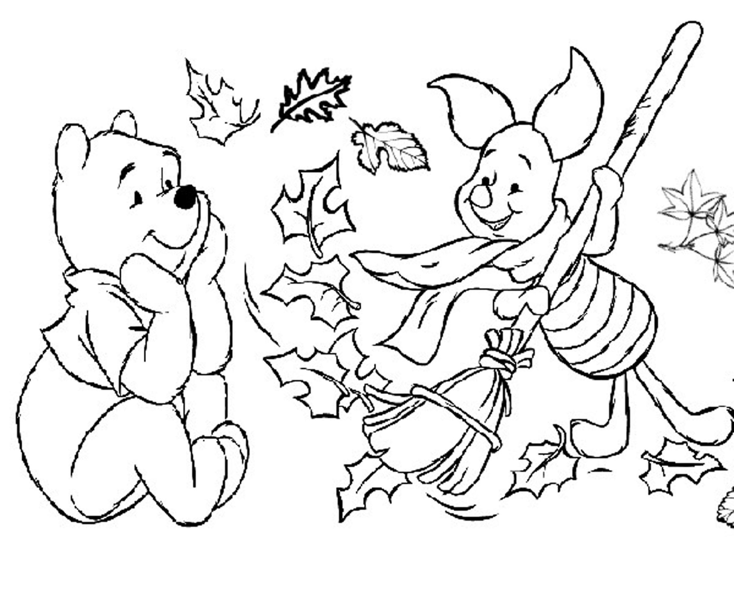 Fall Coloring Pages For Preschoolers Learning Printable