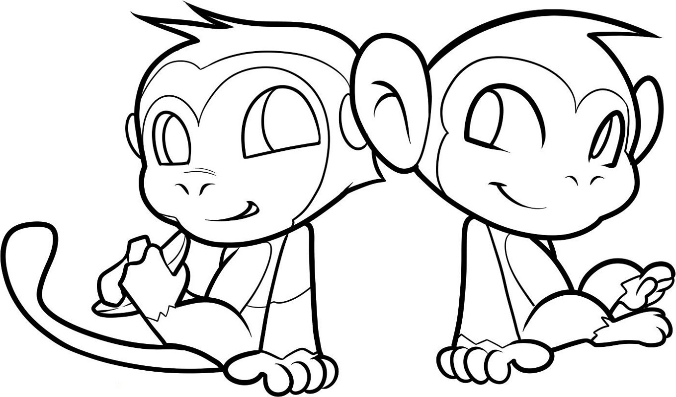 Monkey Coloring Pages To Print