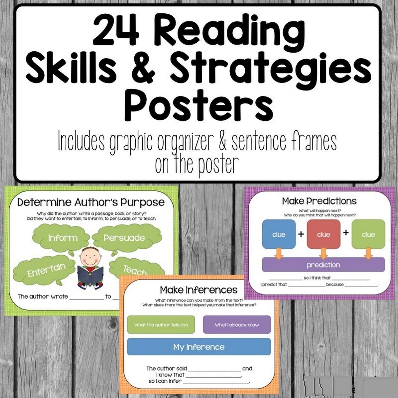 Reading Strategies Free Posters