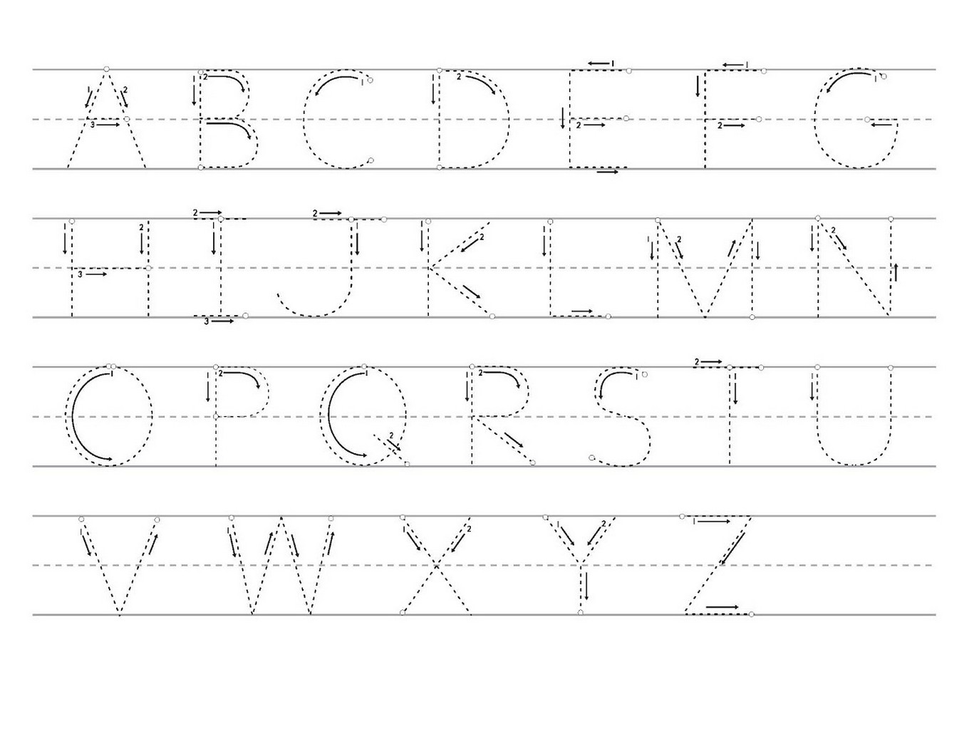 Tracing Letters A Z Worksheets Printable Learning Printable