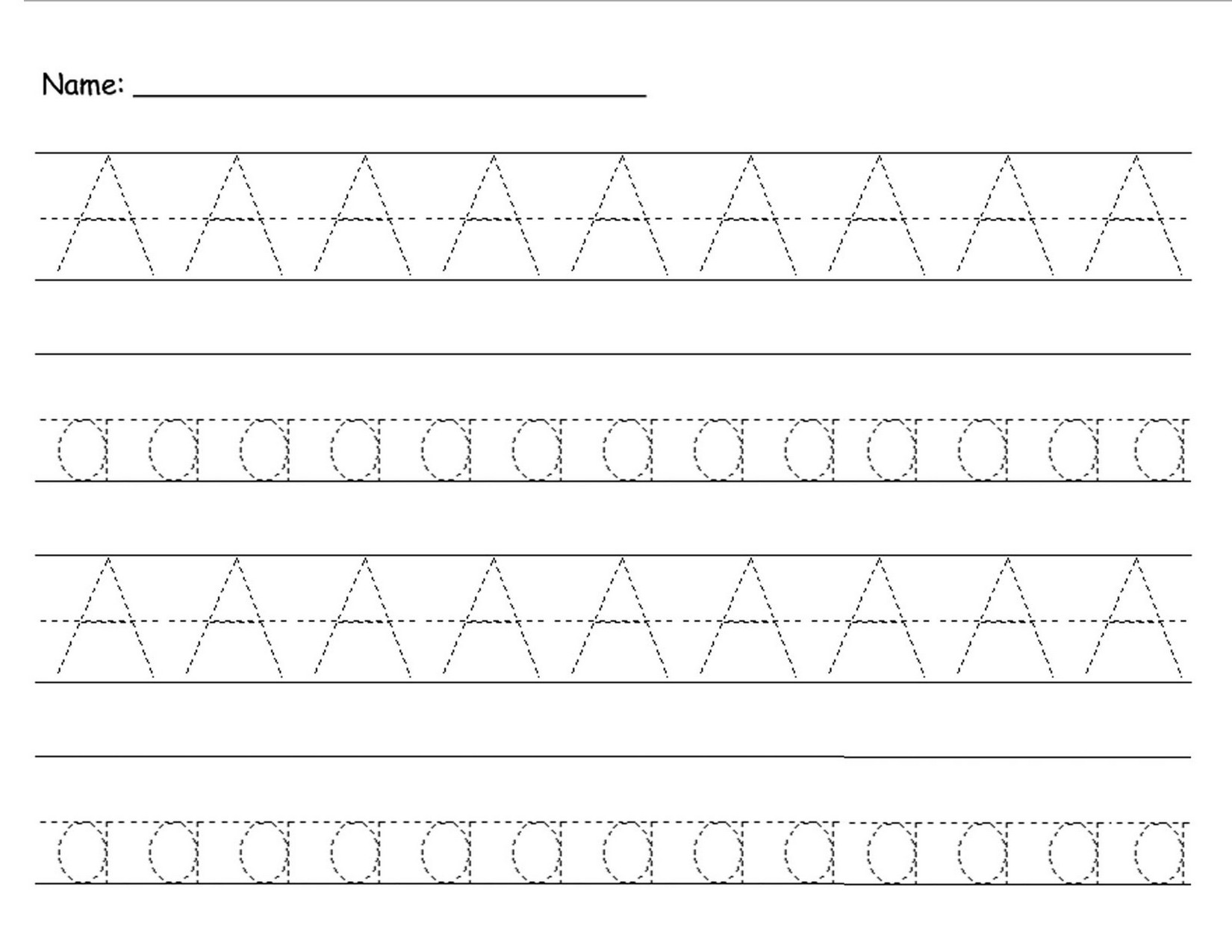 Tracing Pages For Preschool Easy Learning Printable