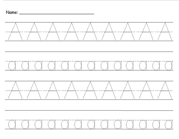 imgenes de trace uppercase and lowercase letters worksheet