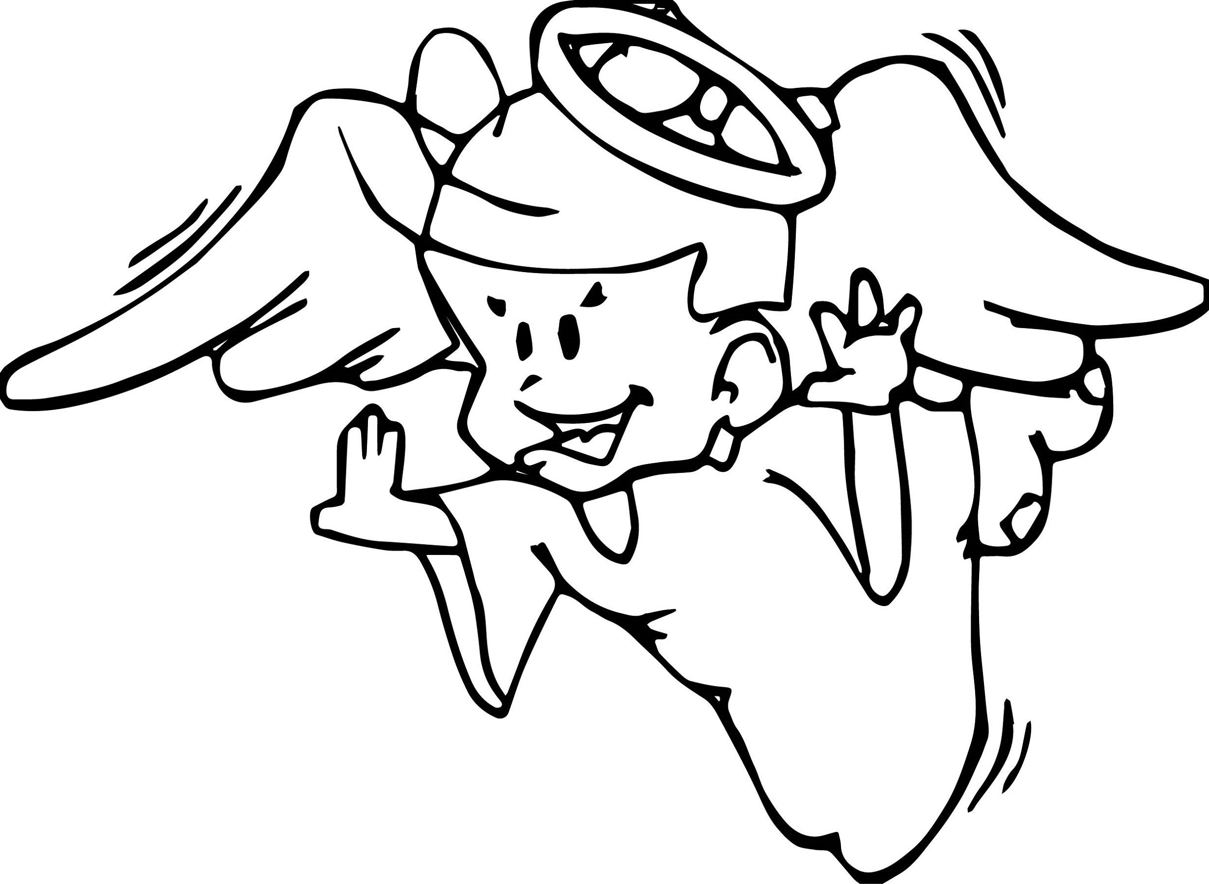 Angel Coloring Pages For Boys Learning Printable