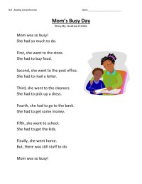 First Grade English Worksheets to Print | Learning Printable