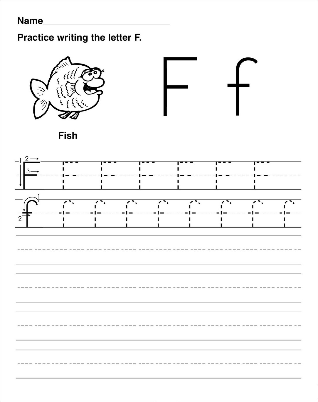 Letter F Worksheet Activities Practice Learning Printable