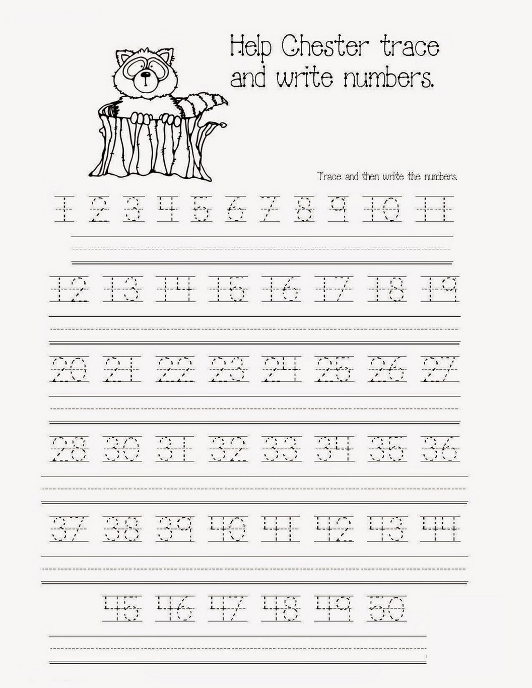 Number Tracer Pages Fun Learning Printable