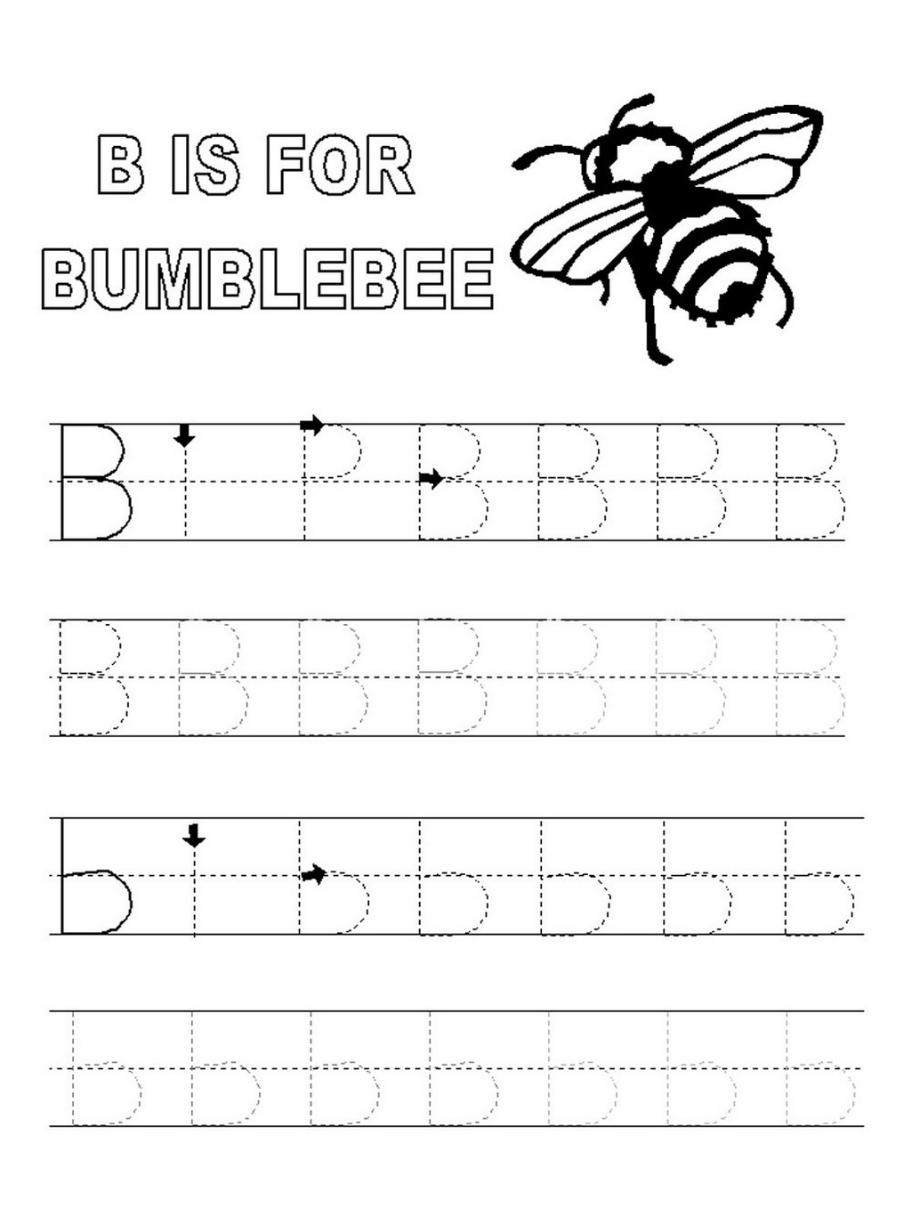 Tracing A B C For Kindergarten