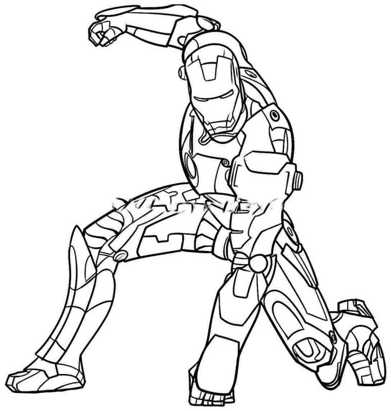 Coloring Pages for Boys Hero