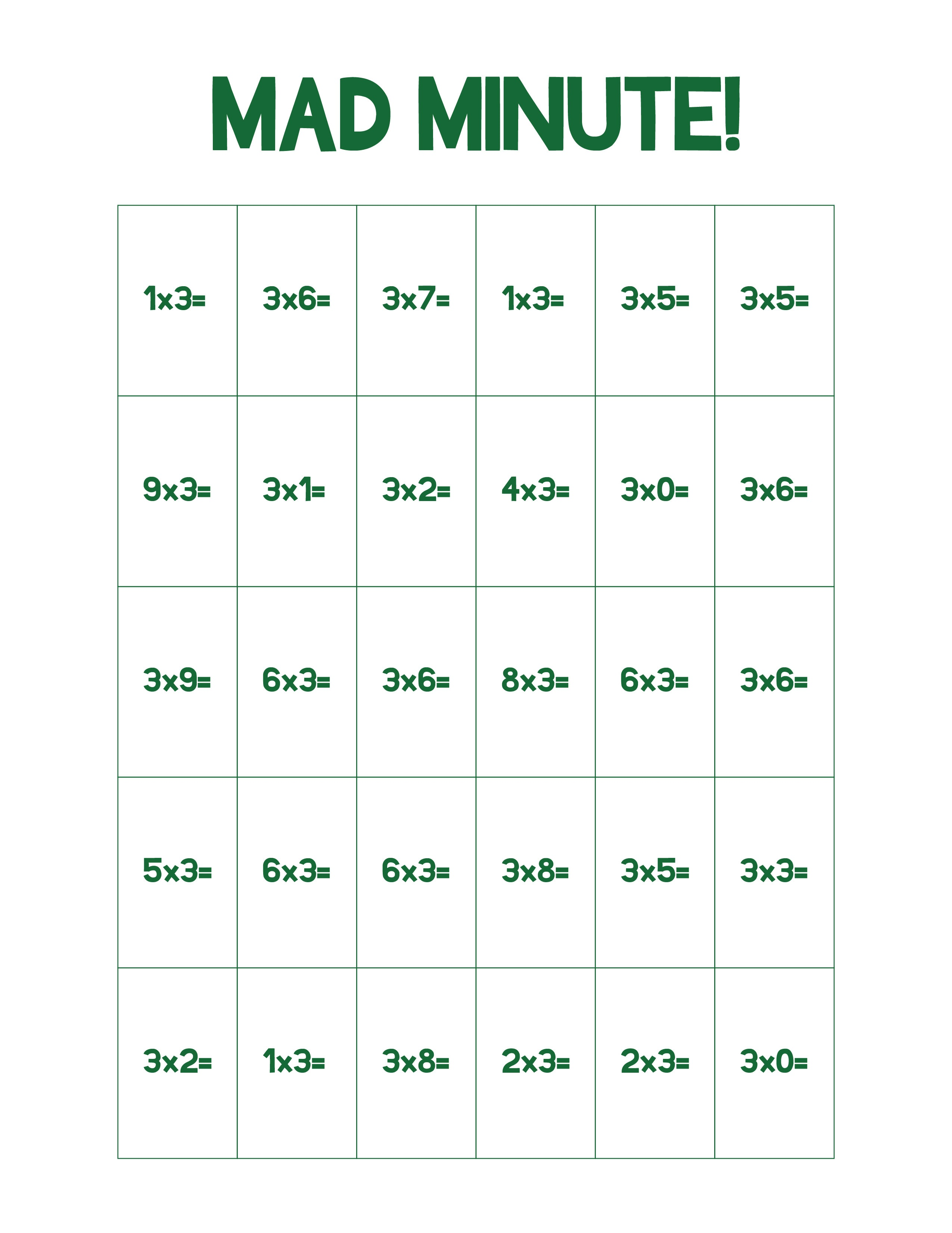 Printable Color Worksheet Math Games