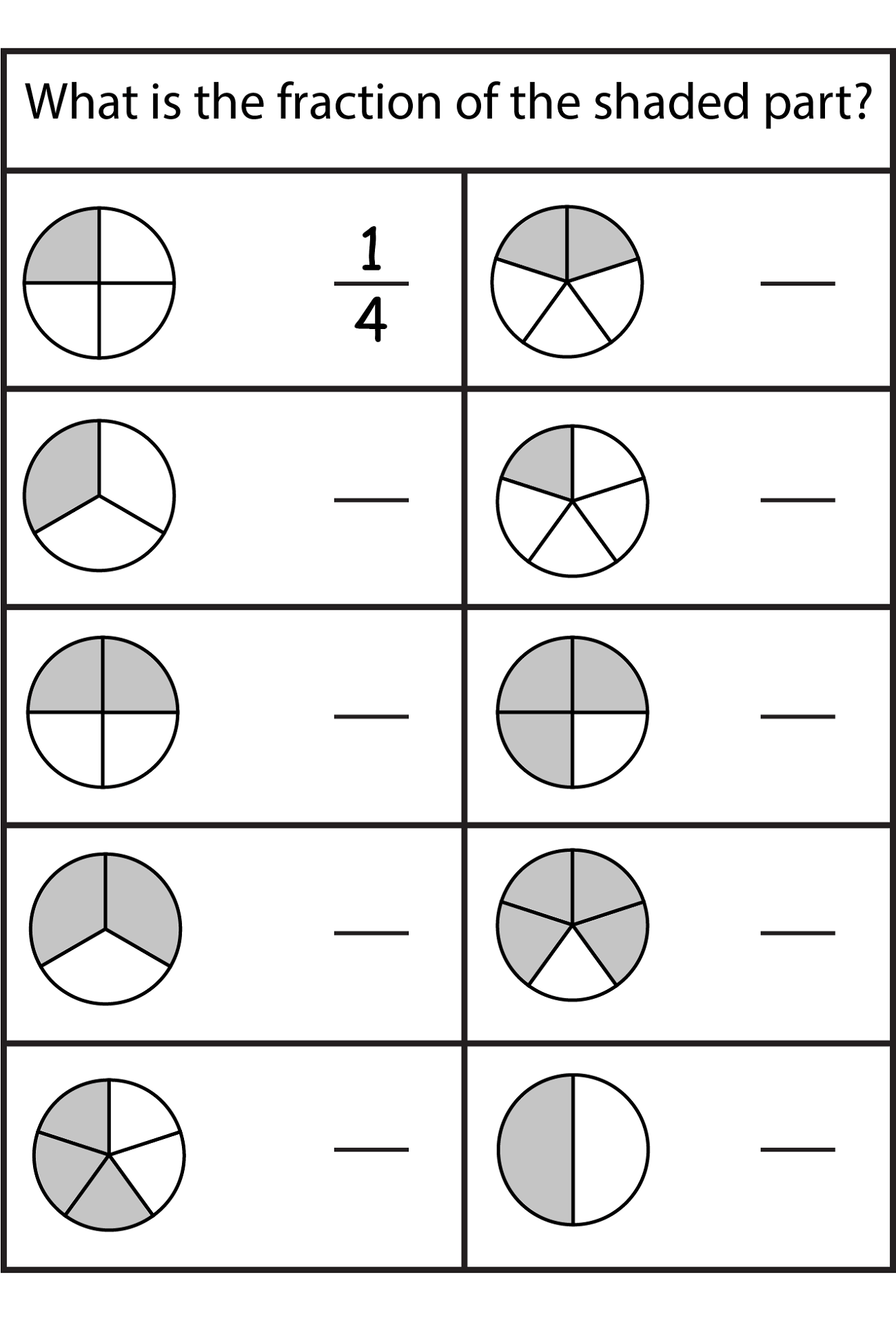 Christmas Fraction Problem Solving Worksheet