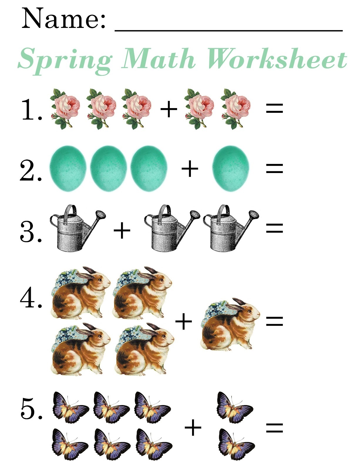 Easy Math Worksheets Free