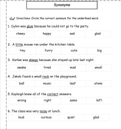 Worksheet On Synonyms And Antonyms For Grade 6   Printable Worksheets and  Activities for Teachers [ 1600 x 1236 Pixel ]