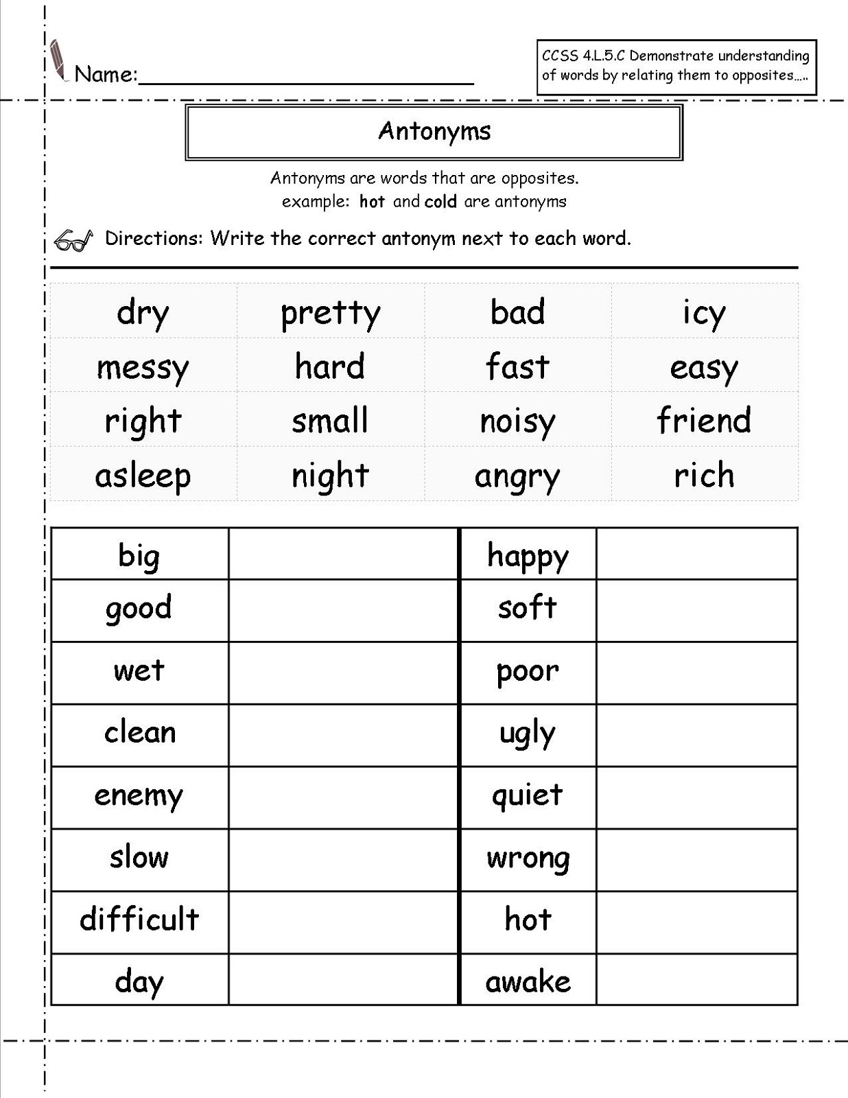 Worksheets For Grade 1
