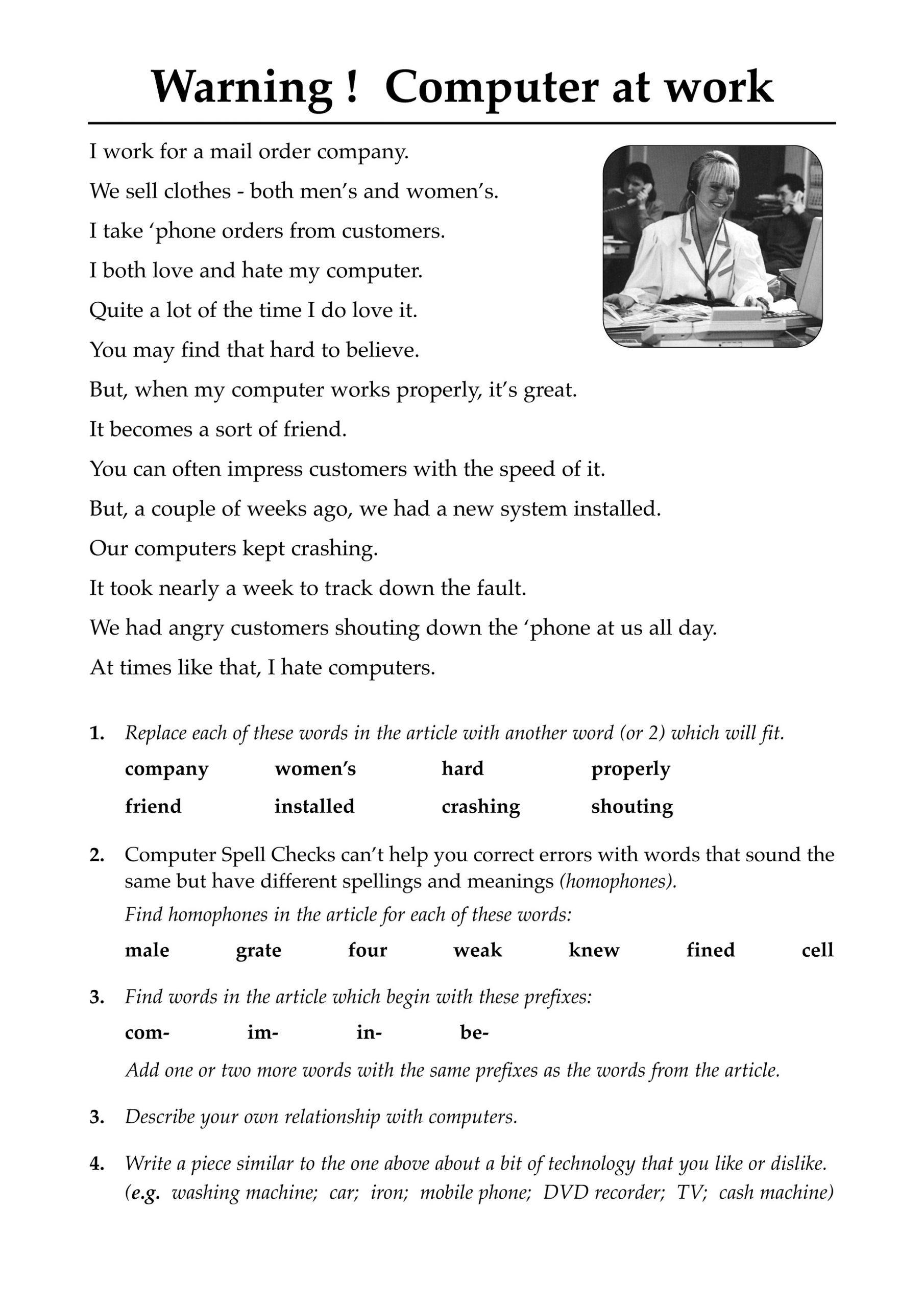 Literacy Worksheets For Reading Development