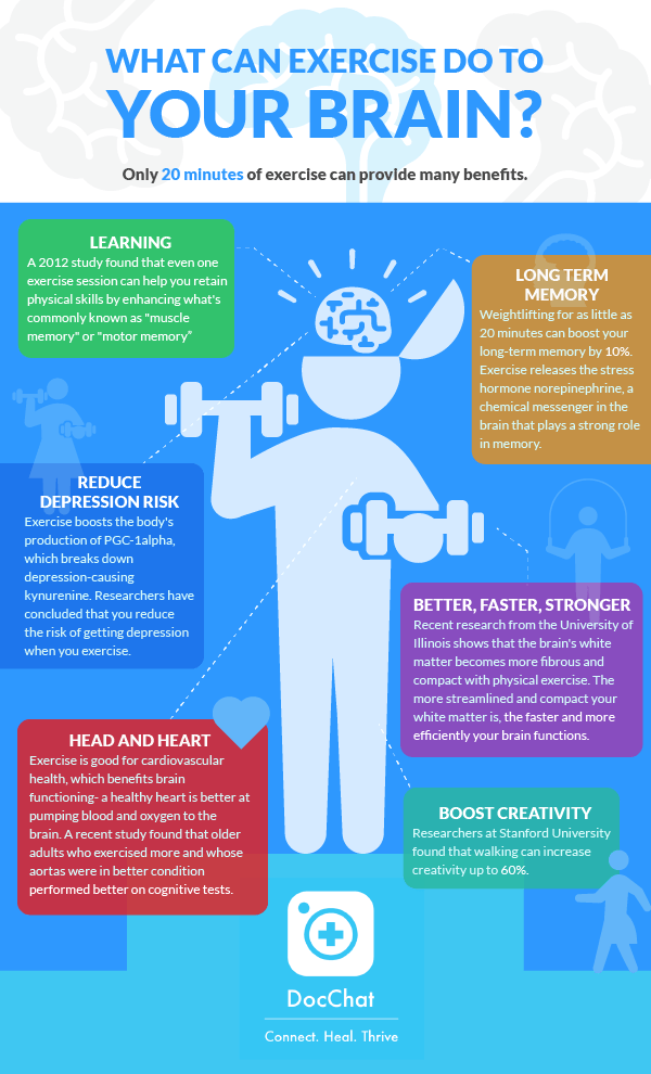 What Can Exercise Do To Your Brain? Infograph
