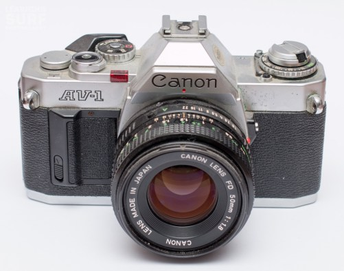 Canon AV-1, with 50mm f1.8 lens