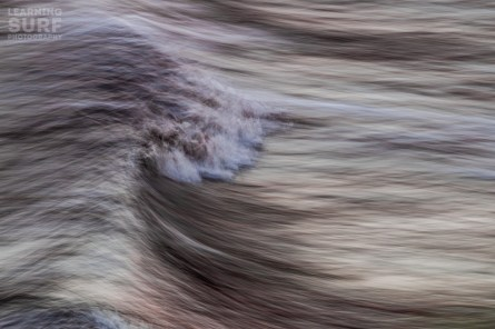 Moving around during the shoot gives you the opportunity to get a different angle, this time I used an even slower shutter speed and panned with the breaking wave. ISO 100, 200mm, f20, 1/4