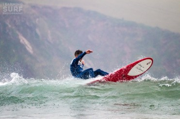 Shaun with a trademark of the lip layback