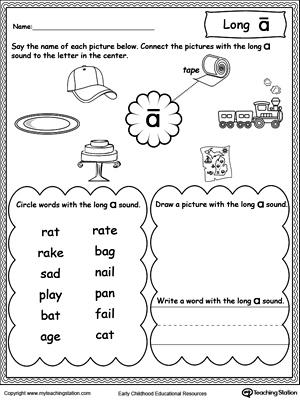 Long Vowel Review. Write Missing Vowel