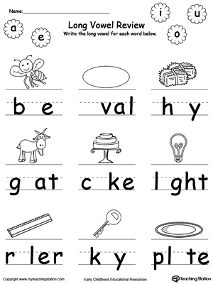 Short Vowel Review. Write Missing Vowel Part III
