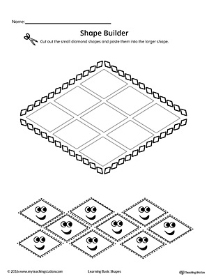 Geometric Shape Builder Worksheet: Triangle