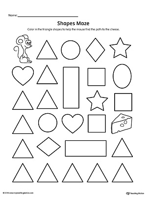 Trace and Connect Dots to Draw Shapes: Square, Triangle